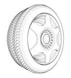 Vector 05 del neumático de la rueda de coche Fotos de archivo
