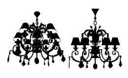 Vector 07 de la lámpara del lustre Fotografía de archivo