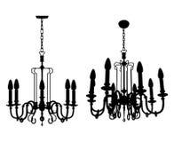 Vector 08 de la lámpara del lustre libre illustration