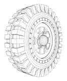 Vector 08 del neumático de la rueda del jeep Foto de archivo