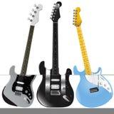 Vector 1 de las guitarras Fotografía de archivo libre de regalías
