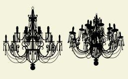 Vector 10 de la lámpara del lustre Imagenes de archivo