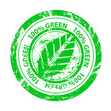 Vector 100% green stamp Royalty Free Stock Photography