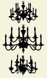 Vector 11 de la lámpara del lustre Imágenes de archivo libres de regalías