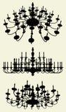 Vector 12 de la lámpara del lustre stock de ilustración