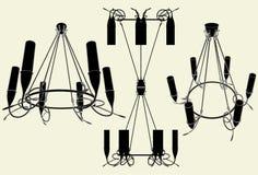 Vector 13 de la lámpara del lustre stock de ilustración