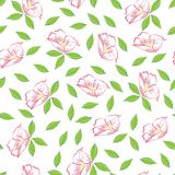 Abstract pink flower seamless pattern background stock illustration