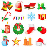 Vector 2 de la decoración de la Navidad Foto de archivo libre de regalías