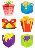 Vector 2 del rectángulo de regalo Imágenes de archivo libres de regalías