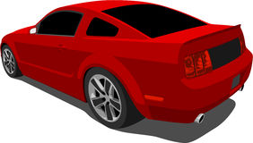 Vector 2008 Ford Mustang Gt Royalty Free Stock Image