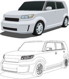 Vector 2008 Scion xB. A Vector .eps illustration of a 2008 Scion xB. Saved in layers for easy editing. See my portfolio for more automotive images royalty free illustration