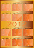 Vector 2012 Calendar. Vector orange 2012 year Calendar Royalty Free Stock Image