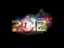 Vector for 2012 happy new year celebration Royalty Free Stock Photos