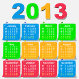 Vector 2013 calendar - week starts with monday Stock Photos