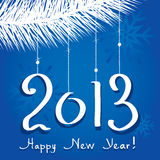 Vector 2013 happy new year. Greeting Royalty Free Stock Images