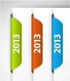 Vector 2013 Labels / Stickers. On the edge of the (web) page Royalty Free Stock Photos