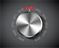 Vector 2013 New Year card. Vector 2012 New Year card with chrome knob royalty free illustration