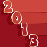 Vector 2013 new year greeting card. Vector 2013 happy new year greeting card Royalty Free Stock Image