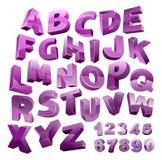 Vector 3D alphabet. Stock Vector Illustration Royalty Free Stock Photos