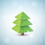 Vector 3d christmas tree Stock Photos