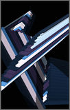 Vector 3d composition. 3d composition-abstract background -vector illustration Stock Image