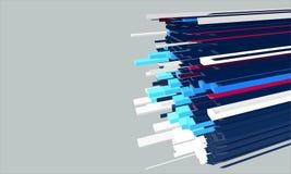 Vector 3d elastic shapes. Illustration Stock Photos