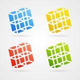 Vector 3d elements. Set of clean  color 3d elements Stock Photography