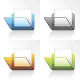 Vector 3D Folder Icons Stock Image