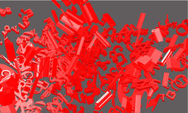Vector 3d font composition. Background Royalty Free Stock Photography