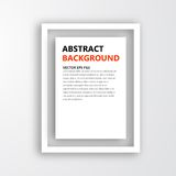 Vector 3D frame. Design for image Stock Photography
