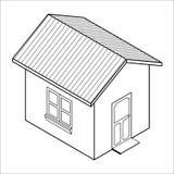 vector 3d huispictogram (vector) Royalty-vrije Stock Afbeelding