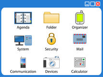 Vector 3D icons Royalty Free Stock Photo
