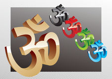 Vector 3D Mantra. Indian Theme Royalty Free Stock Image