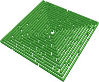 Vector 3D maze Stock Photography