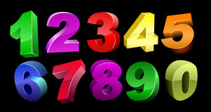 Vector 3d numbers Royalty Free Stock Image
