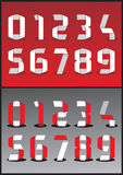 Vector 3D numbers Stock Images