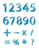 Vector: 3D numeric digits. 3D numeric digits vector Image Royalty Free Stock Photo