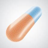 Vector 3d pills. With content circle Royalty Free Stock Photography