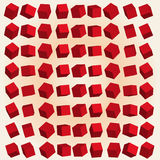 Vector 3d red cubes Stock Photo