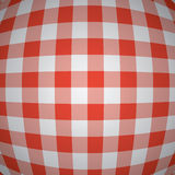 vector 3d red picnic tablecloth Stock Images