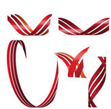 Vector 3d ribbons Royalty Free Stock Photography
