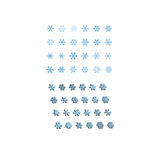 Vector and 3d snowflake set Royalty Free Stock Photos