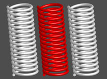Vector 3d springs. Vector springs isolated on gray background Stock Photography