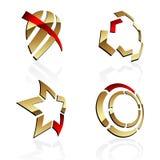 Vector 3D symbolen Stock Foto