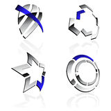 Vector 3D symbols Royalty Free Stock Photo