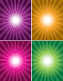 Vector 4 colorful background Royalty Free Stock Photo