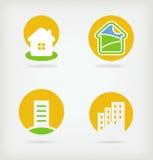 vector 4 de la insignia de la casa stock de ilustración