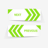 Vector предыдущие и следующие кнопки навигации для изготовленного на заказ веб-дизайна Стоковые Фотографии RF