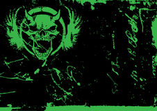 Vector. Abstract dirty background with the devil skull Royalty Free Stock Image