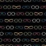 Vector красочное на картине черных нашивок аксессуаров стекел безшовной иллюстрация штока